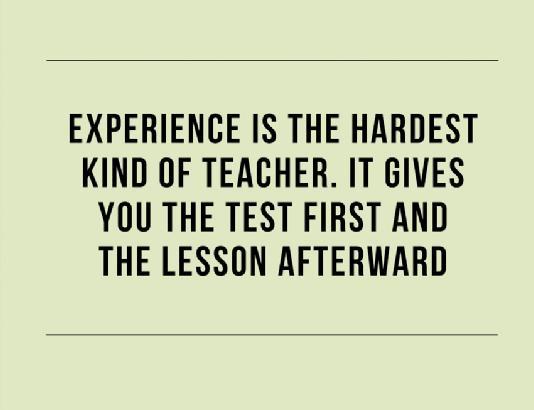 experience-as-a-teacher